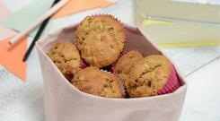 Apple, Bacon Courgette Muffins