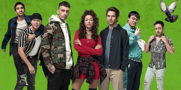 Michelle Keegan, Damien Molony and Brassic co-stars