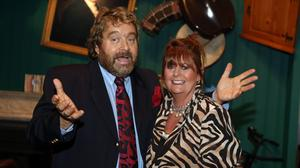 Brendan Grace and his wife Eileen. Picture:Arthur Carron/Collins