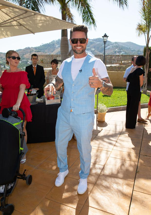 Keith Duffy at the wedding of Fair City star, George McMahon and Rachel Smyth, in Nerja, southern Spain. PIC: Mark Beltran/Solarpix.com