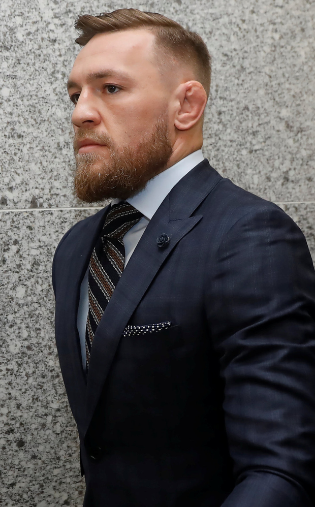 Holding hands up: Conor McGregor said sorry on TV for bar attack. Photo: REUTERS/Shannon Stapleton