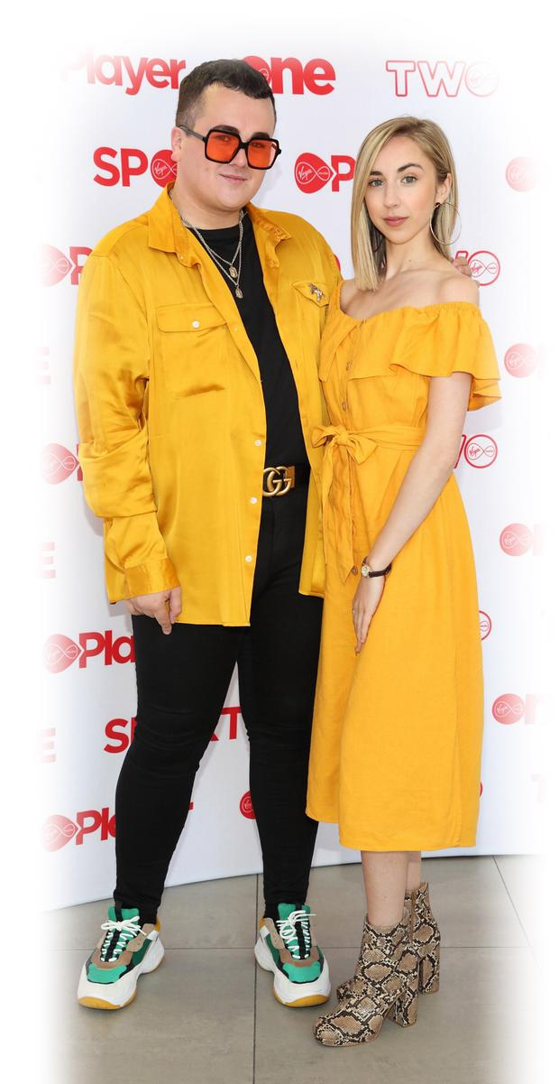 Thomas Kane-Byrne and Aisling Kearns at the Virgin Media Television Autumn launch at the VMTV Studios in Ballymount,Dublin. Pic Brian McEvoy Photography