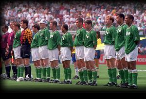 The Republic of Ireland team who defeated Italy 1-0 at the 1994 World Cup at Giants Stadium, New Jersey, USA. Picture credit: Ray McManus / SPORTSFILE