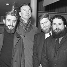 The Dubliners pictured in 1966. (From left) Ciaran Bourke, Ronnie Drew, Pete Seeger, John Sheahan, Barney McKenna and Luke Kelly.
