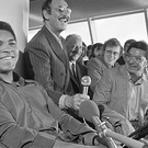 Muhammad Ali during the press conference at Dublin Airport