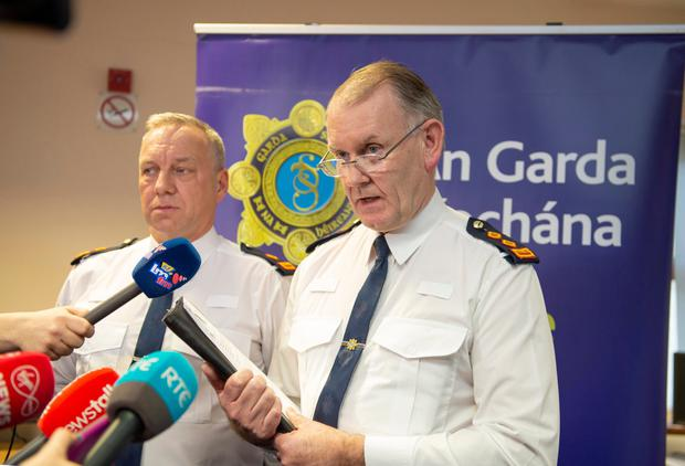 Superintendent Andrew Watters (pictured), Drogheda District and Chief Superintendent Christy Mangan (pictured), Louth Garda Division spoke today at Drogheda Garda Station in relation to the discoveries.