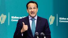 Taoiseach Leo Varadkar outlined the importance of an export-led recovery (PA)