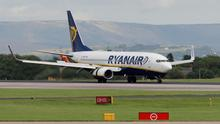 A Ryanair flight from Edinburgh to Dublin immediately returned to the Scottish airport because of a problem with the wheel