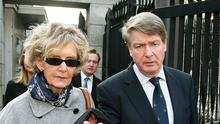 Brian O'Donnell and his wife Mary Patricia leave the court of appeal in Dublin