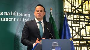 Leo Varadkar said the aim was changing people's behaviours in regard to CO2 emissions (Michelle Devane/PA)