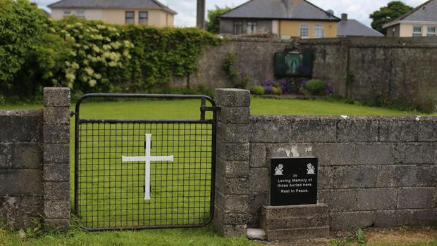 So much pain: A memorial at the area where many infants' bodies were buried in Tuam
