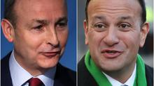Micheal Martin and Leo Varadkar (PA)