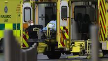 Paramedics and ambulances at the Mater Hospital in Dublin (Brian Lawless/PA)