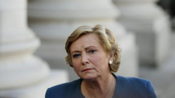 Newly appointed Justice Minister Frances Fitzgerald speaking to the media at Government Buildings, Dublin