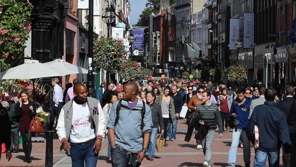 Shoppers on Dublin's Grafton Streer - is retail making a comeback?