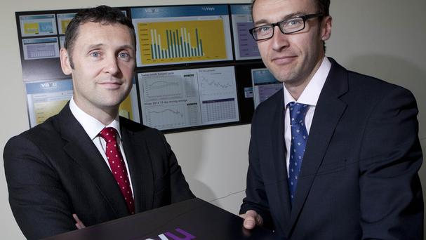 Head of energy services at Vayu UK Simon Firth, right, and Liam Faulkner, commercial director