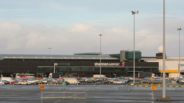 Shannon Airport, where two TDs were arrested for trying to search two planes