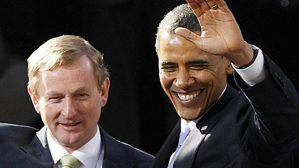 Barack Obama (right) has criticised companies that take advantage of Ireland's low-tax policies