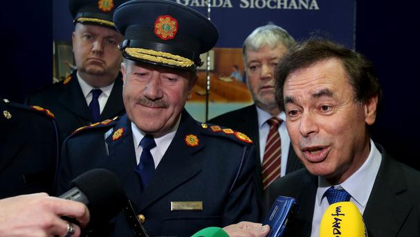 Martin Callinan (left) and Alan Shatter both left their posts