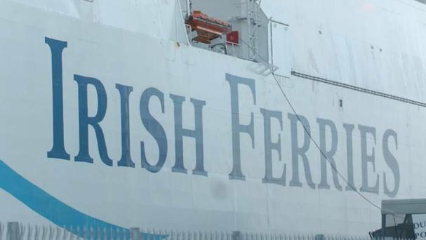 The man fell from the Irish Ferries vessel the Oscar Wilde, which was sailing to Cherbourg