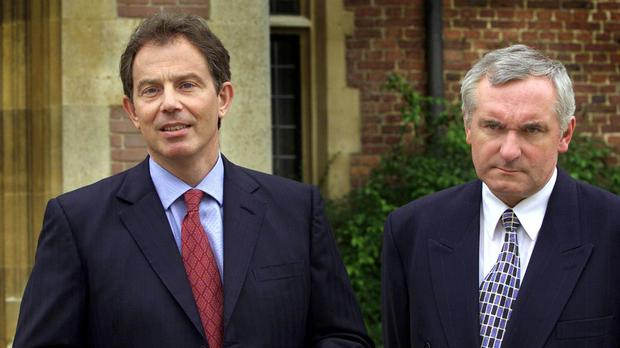 Tony Blair and Bertie Ahern were architects of the Good Friday agreement