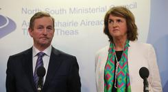 Taoiseach Enda Kenny and Tanaiste Joan Burton
