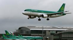 Aer Lingus dropped as much as 21 cents to €2 in Dublin today, the biggest drop t in 15 months.