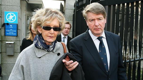 Brian O'Donnell and his wife Mary Patricia leaving the court of appeal in Dublin during an earlier appeal
