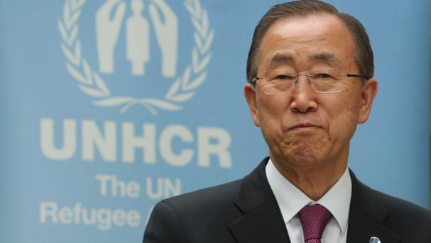 UN General Secretary Ban Ki-moon has commended the Irish Government over its decision to despatch a naval vessel to assist in the humanitarian crisis in the Mediterranean
