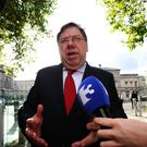 GIVING EVIDENCE: Former Taoiseach Brian Cowen arrives at the Oireachtas Banking Inquiry last week