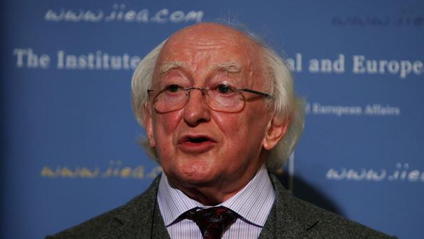 President Higgins: courteous