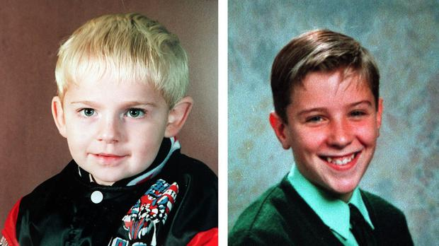 Johnathan Ball, left, and Tim Parry died in an IRA bomb attack in Warrington in 1993