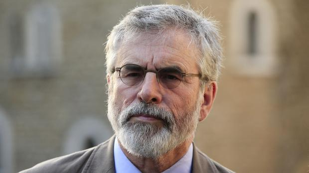 Gerry Adams suggested IRA volunteers had been stood down as part of the peace process