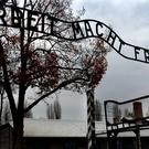 The notorious phrase 'Arbeit macht frei' were emblazoned on the entrance to the Auschwitz concentration camp in Poland