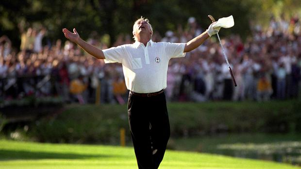 Christy O'Connor Jr's putt on the 18th hole won the Ryder Cup for Europe in 1989