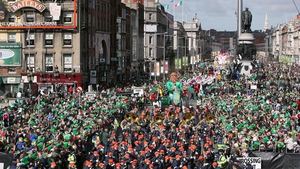 Dublin city centre during last year's St Patrick's Day Parade. Photo: PA