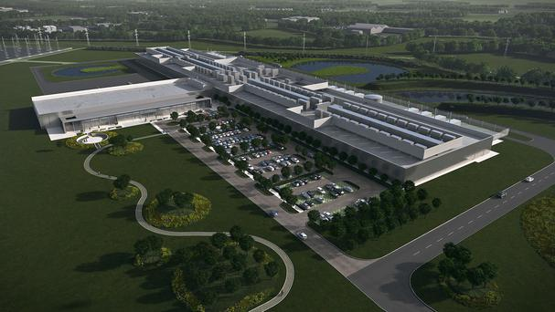 An artist's impression of Facebook's Clonee Data Centre (Blue Rubicon/PA)