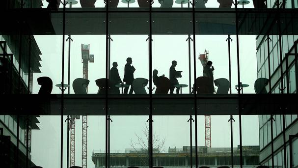 Workers in the International Financial Services Centre (IFSC) in Dublin