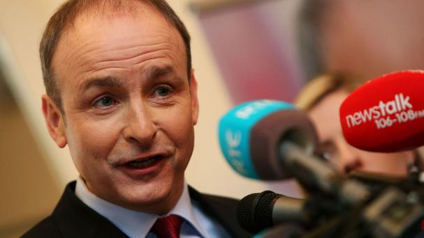 Micheal Martin at the launch of the Fianna Fail policy on rural Ireland