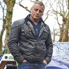 Matt LeBlanc with a new Rolls-Royce Dawn, during filming for the new series of Top Gear