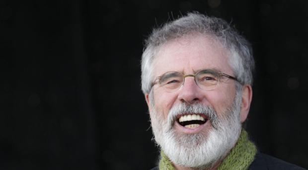 Gerry Adams hit out at his political rivals during his ard fheis address