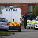 Gardai at the scene in Kilcronin Close, west Dublin