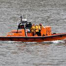 An RNLI team joined the search operation