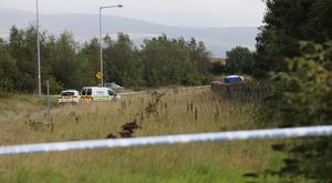 The scene in Kilcurry, Dundalk, where the body of Martin Mulligan was discovered
