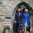 The Prince of Wales and the Duchess of Cornwall at Donegal Castle