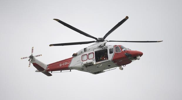 Search-and-rescue helicopter (Stock photo)
