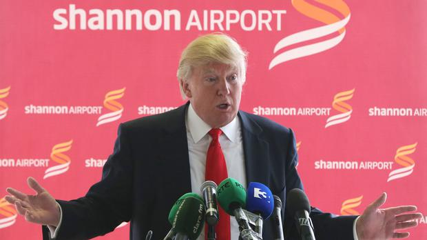 Donald Trump, pictured at Shannon Airport in 2014, is to visit Ireland again later this month