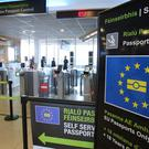 A general view of passport control at Dublin Airport