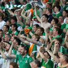 Republic of Ireland fans are ready to face France