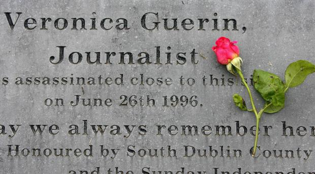 A plinth at the site of Veronica Guerin's murder